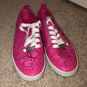 Pink Size 7 GUESS sneakers